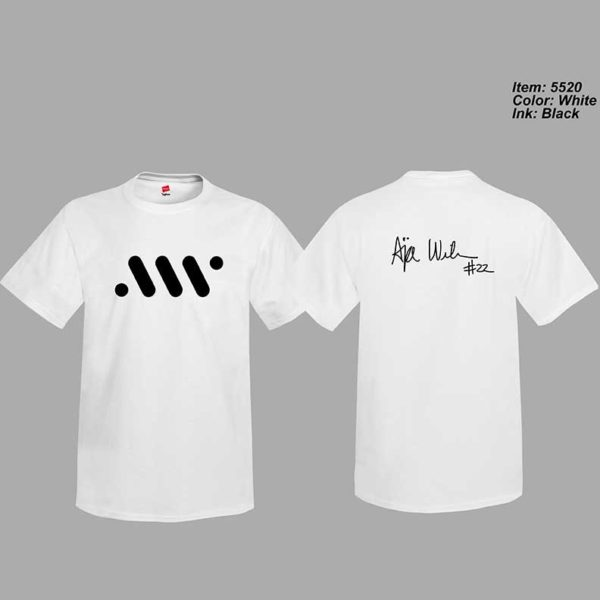 White T-shirt with logo and Signature